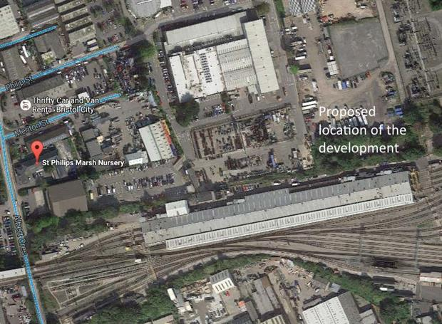 The proposed location was only 200m from a nursery school. Image: Google