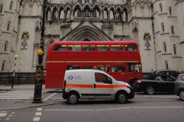 Traffic in front of the Royal Courts of Justice, where the case was heard. Photograph: Dirk Ingo Franke CC BY-SA 3.0