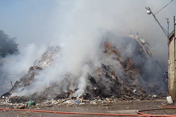 The Marshgate fire burned for two months. Photograph: Environment Agency
