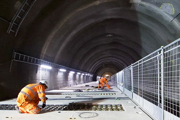 Platform at Crossrail's Liverpool Street station being built in July: the London rail project is one of many major infrastructure projects under way across the UK. Photograph: Crossrail
