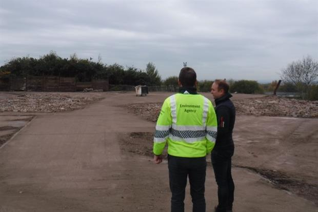 Some 25,000 cubic metres of waste has been removed from the site at Brierley HillPhotograph: Environment Agency