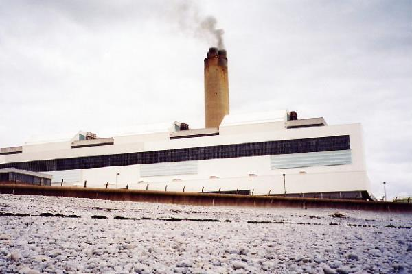 Aberthaw power station in Wales is one of the UK's few remaining coal-fired power stations. Photograph: Chris Bell CC BY-SA 2.0