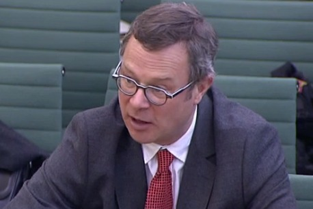 "Hugh Fearnley-Whittingstall said supermarkets must be ""completely honest and transparent about their own wasteful practices"". Photograph: Parliament TV"