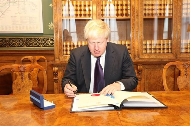 Foreign secretary Boris Johnson ratified the Paris Agreement on 17 November. Photograph: Foreign and Commonwealth Office