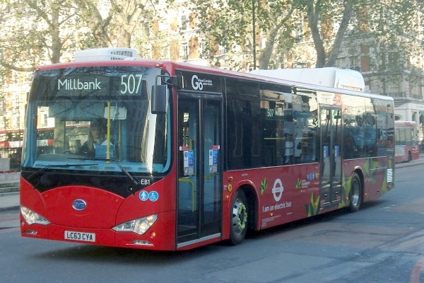 More electric buses will be rolled out in London over the coming years. Photograph: Aubrey Morandarte CC BY-SA 2.0