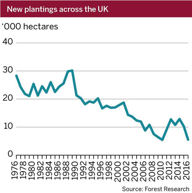 Figure: New tree plantings
