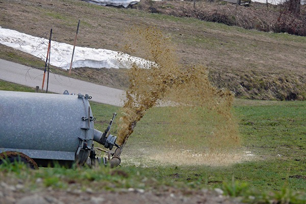 Agricultural slurry is a useful fertiliser but is a highly polluting substance to the water environment. Photograph: 123RF