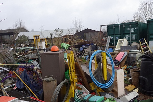 Parker had no permits in place for his skip hire business. Photograph: Environment Agency