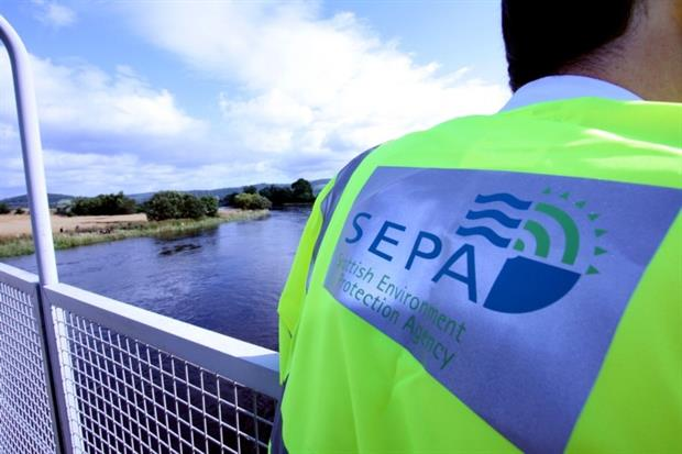 Scotland saw a 75% decline in the total value of fines handed down by the regulator in 2015/16. Photograph: SEPA