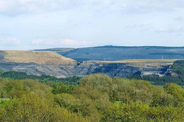 Nant Helen open cast coal mine. Photograph: Nigel Davies/geograph.org.uk