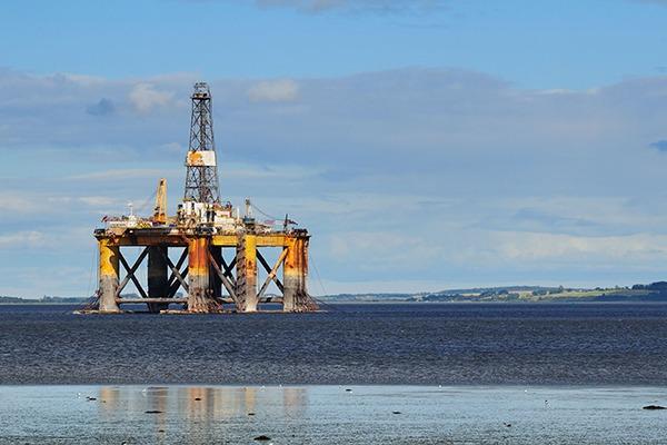 Offshore oil platform in north Scotland. Photograph: 123RF