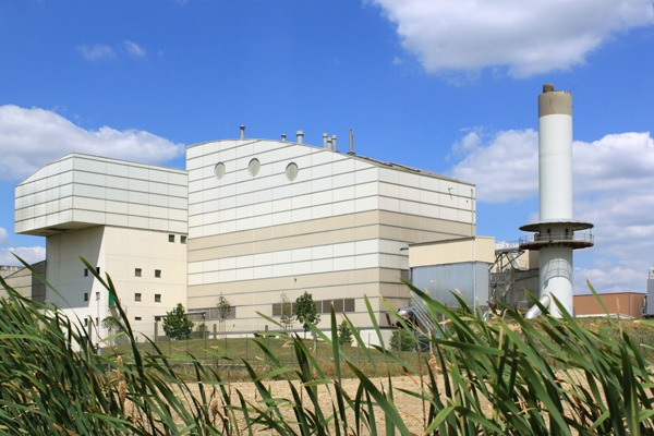 An energy from waste plant