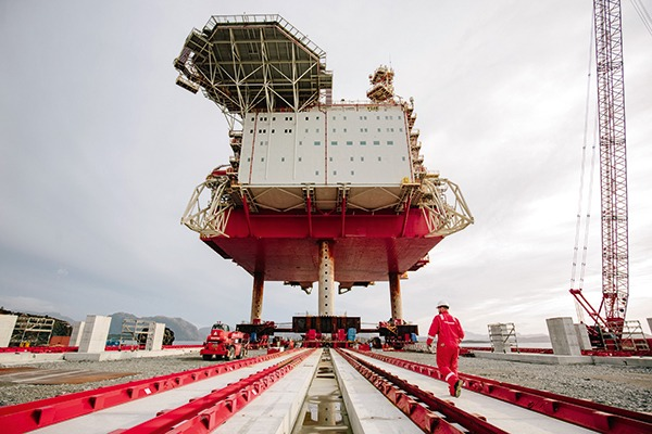 Decommissioning facility at Great Yarmouth on the Norfolk coast. Photograph: Veolia