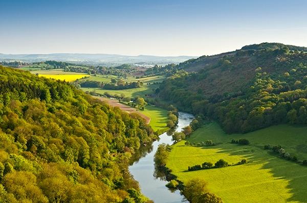 Wye valley and river. Photograph: Matthew Dixon/123RF