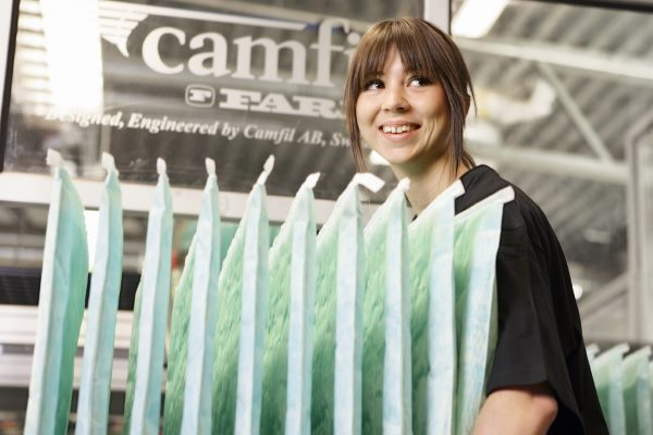 The ISO 16890:2016 standard for air filter testing should better reflect reality. Photograph: Camfil