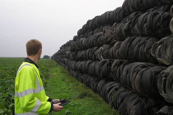 An EA enforcement officer investigating an illegal site