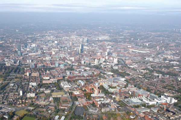 Manchester will aim to meet a WHO particulate air quality standard by 2030. Photograph: Daniel Nisbet CC BY-SA 2.0