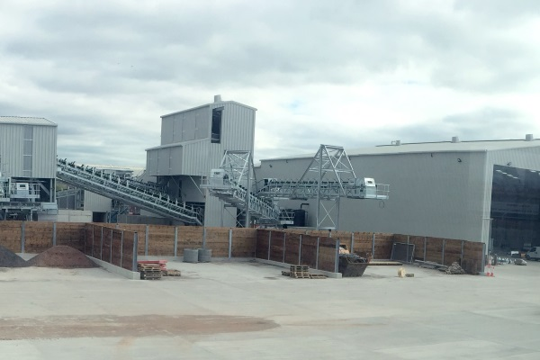 The bottom ash processing facility has already been built. Photograph: Day Group