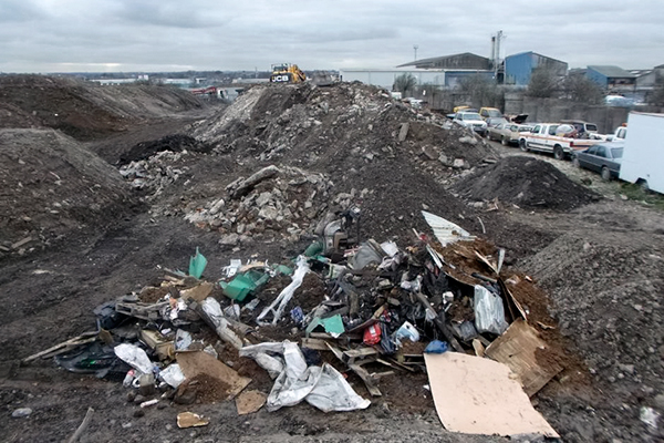 Millen pleaded guilty to carrying out waste transfer activities without an environmental permit. Photograph: Environment Agency