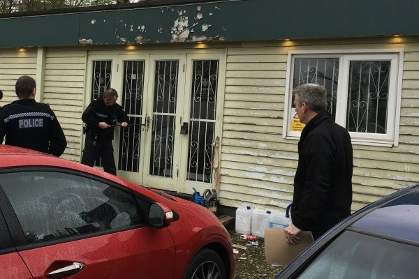 The raids took place at addresses in Staffordshire, Herefordshire and Hertfordshire. Photograph: Environment Agency