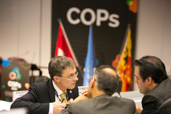 The meeting of the Stockholm, Basel and Rotterdam Conventions lasted for two weeks. Photograph: IISD