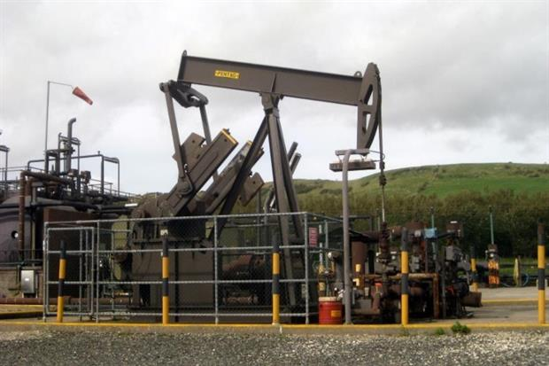 Kimmeridge Bay oil field in Dorset. Photograph: Huligan0 CC BY-SA 3.0