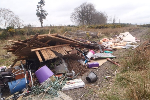 Flytipping is a serious problem in Scotland. Photograph: SEPA