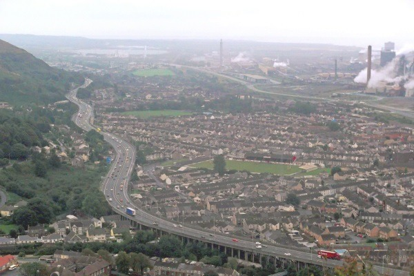 Port Talbot has long been beset by poor air quality. Photograph: Kevin-Corcoran CC BY-SA 2.0