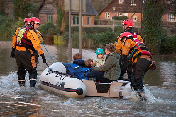 The number of homes at risk of surface water flooding is increasing. Photograph: Steve AllenUK/123RF