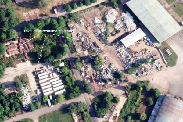Satellite data and machine-learning algorithms can be used to detect serious waste crime and provide evidence for enforcement action. Photograph: Google