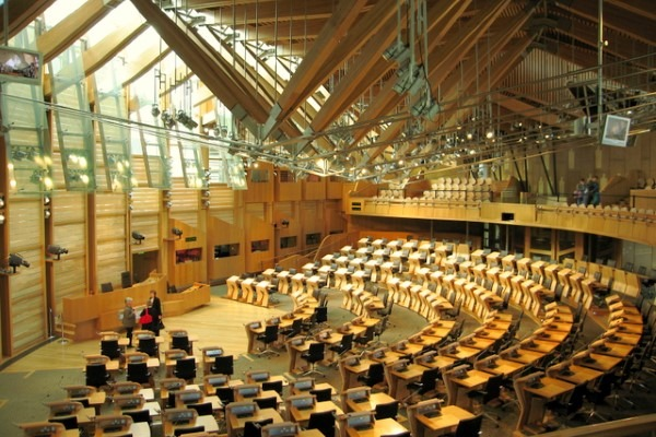The Scottish Parliament could be within a low emission zone by the end of next year, if Edinburgh is selected. Martyn Gorman CC BY-SA 2.0