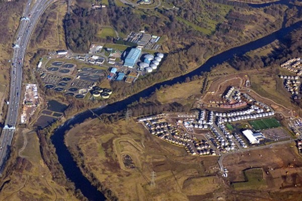 The Daldowie sludge plant and the Newton Farm estate