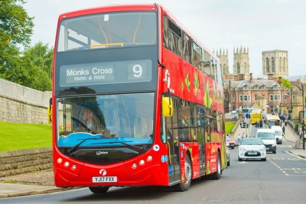 Electric bus in York