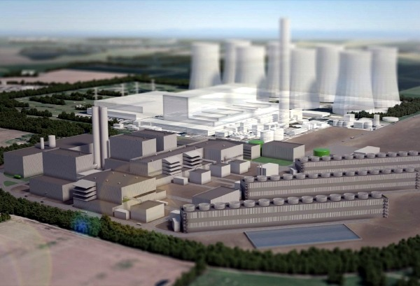 The new plant will be built immediately to the south of the old coal-fired units. Photograph: Eggborough Power/Fichtner Consulting Engineers