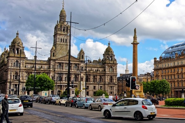 Glasgow's George Square will probably be part of its low emission zone. Photograph: Erix2005/123RF