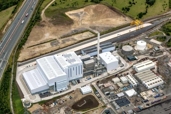 Ferrybridge Multifuel 2 will be built on the plot behind the existing plant. Photograph: Hitachi Zosen Inova