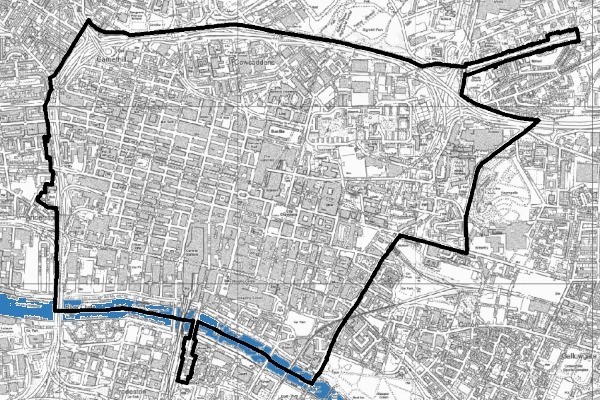 Glasgow's first proposed LEZ boundary