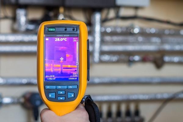 Heat sensor used to assess energy efficiency