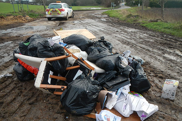 Gilham operated an illegal waste disposal business without an environmental permit. Photograph: North Hertfordshire District Council