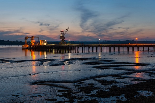 River Tamar in Devon has a legacy of contamination, particularly from its mining past. Photograph: Helen Hotson/Alamy Stock Photo