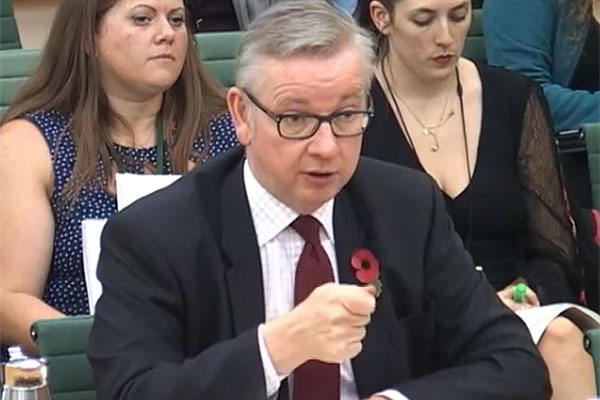 Gove has an enormous task ahead. Picture: Parliament TV