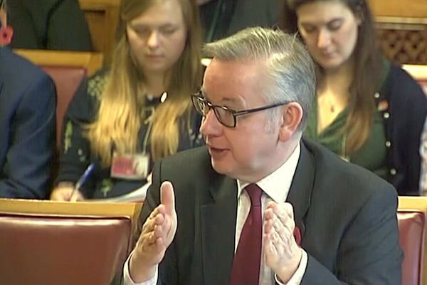 Environment secretary Michael Gove. Photograph: Parliament TV