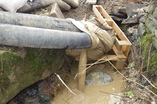 Mitigation efforts failed. Photograph: Environment Agency