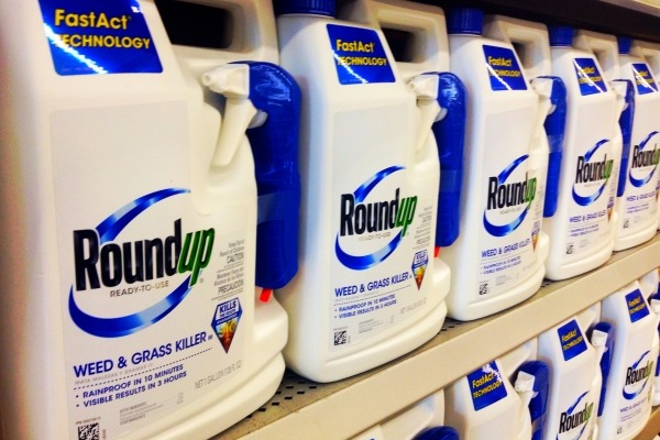 Bottle of Roundup, which contains glyphosate