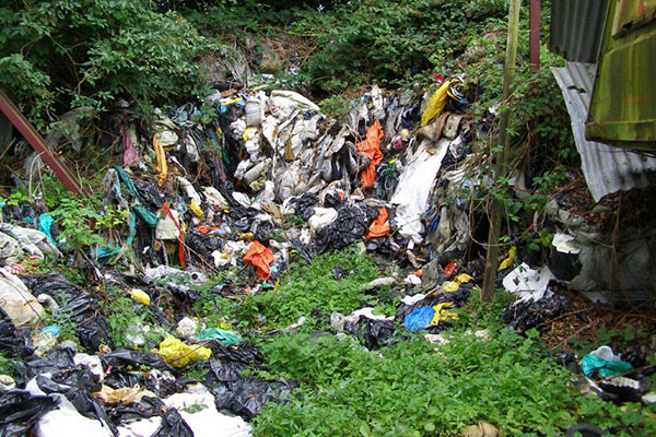 According to the NIEA the majority of the waste still remains on site. Photograph: DAERA