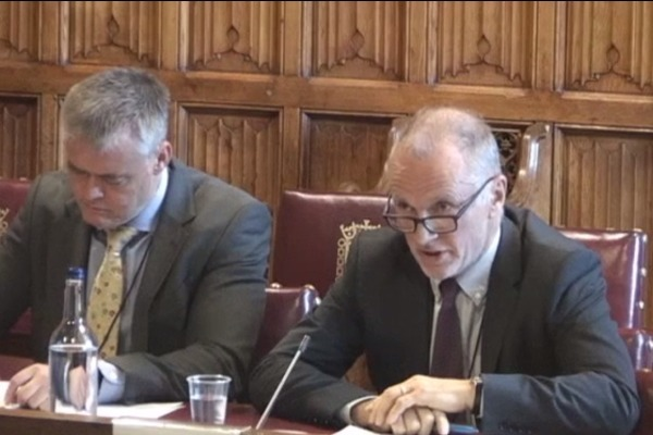 Martin Nesbit (left) and David Baldock of the Institute for European Environmental Policy gave evidence to the inquiry. Photograph: Parliament