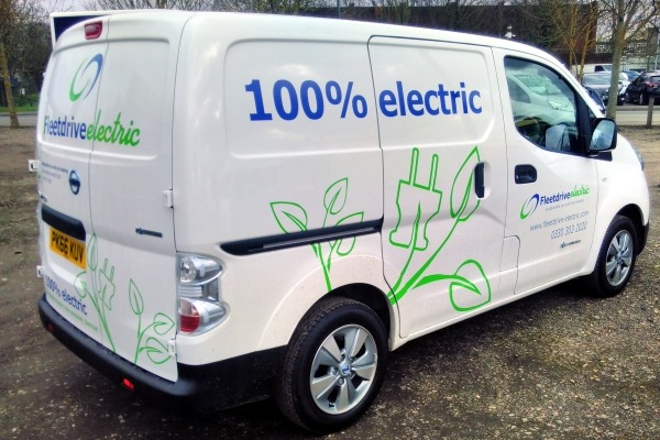 Electric van.