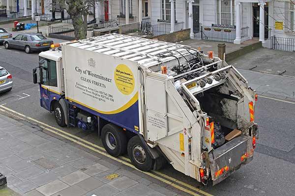 Garbage truck London. Photograph: Baloncici/123RF