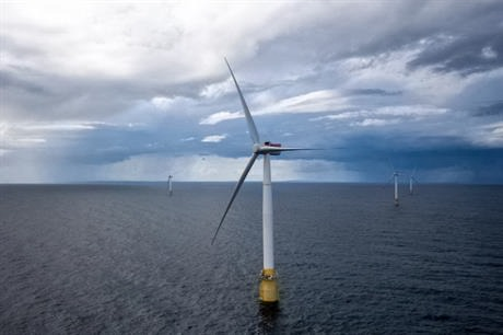 Hywind floating wind farm in Scotland. Photograph: Øyvind Gravås/Woldcam – Statoil ASA