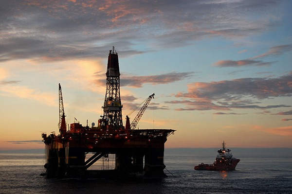 Oil rig in the North Sea. Photograph: Trond-Runar-Solevaag